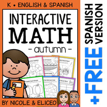 Load image into Gallery viewer, Fall Kindergarten Math Activities