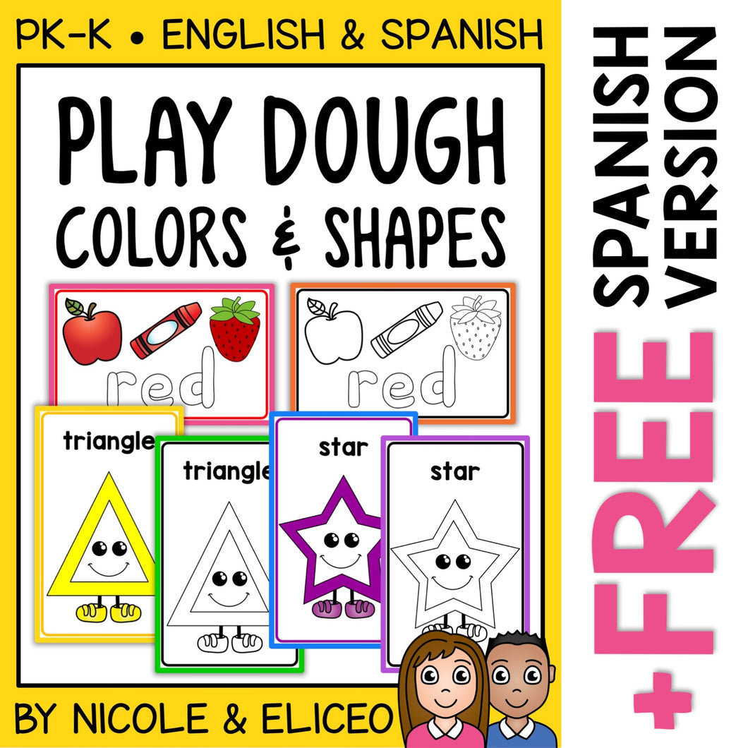 Playdough Mats Colors and Shapes
