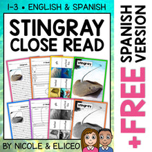 Load image into Gallery viewer, Stingray Close Reading Passage Activities