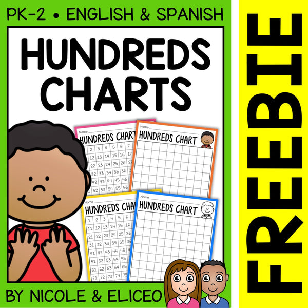 FREE Math Hundreds Chart