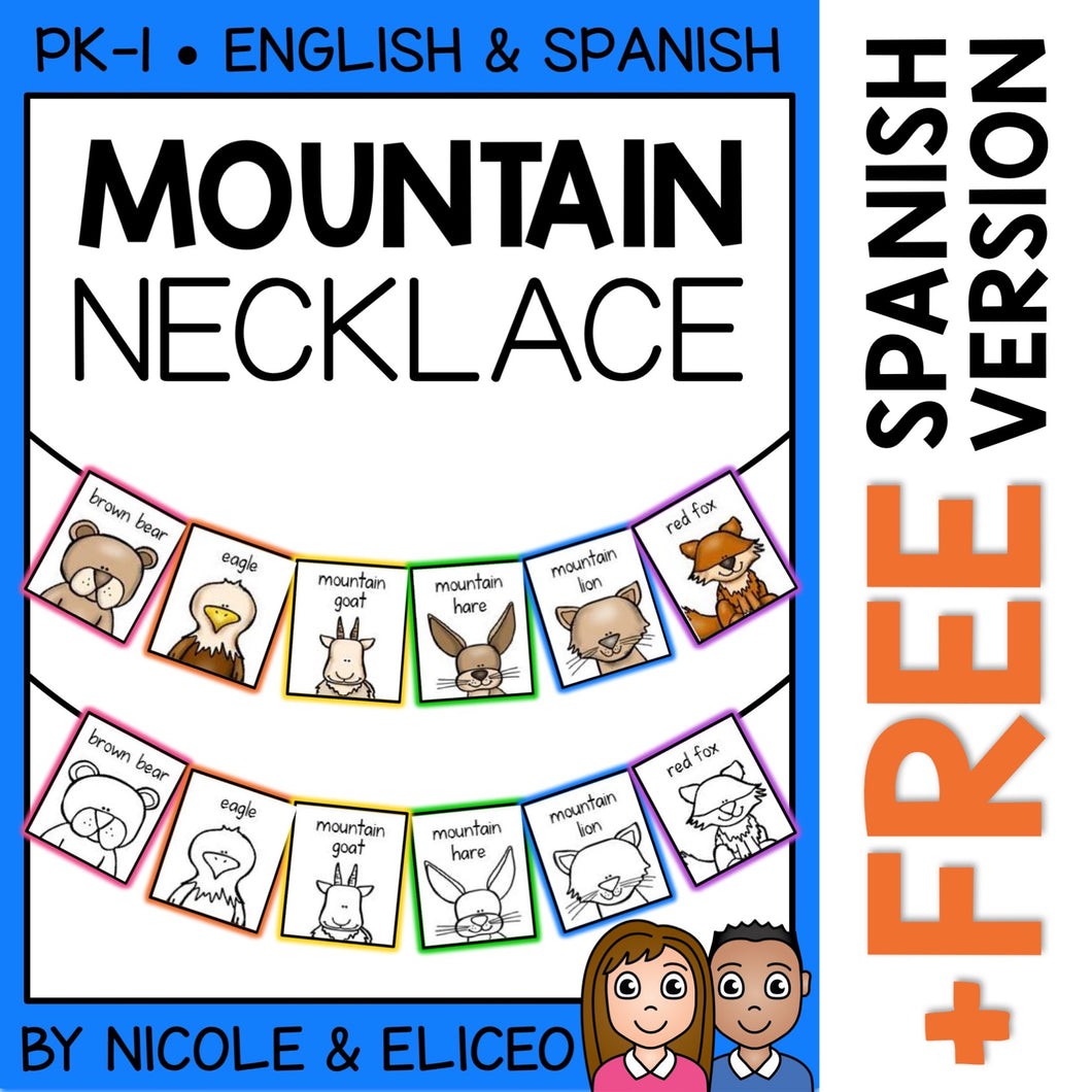 Mountain Animal Activity Necklace Craft