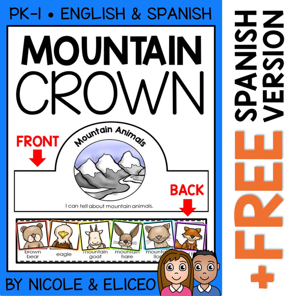 Mountain Animals Activity Crown Craft