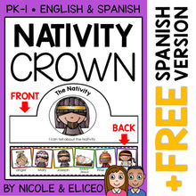 Load image into Gallery viewer, Nativity Christmas Activity Crown Craft