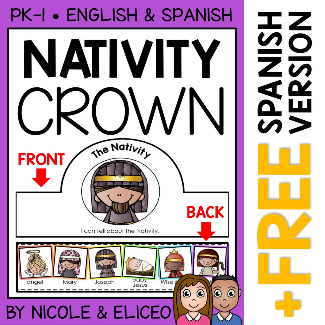 Nativity Christmas Activity Crown Craft