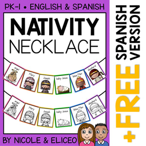 Nativity Christmas Activity Necklace Craft