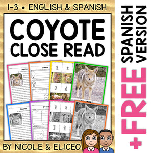 Coyote Close Reading Passage Activities