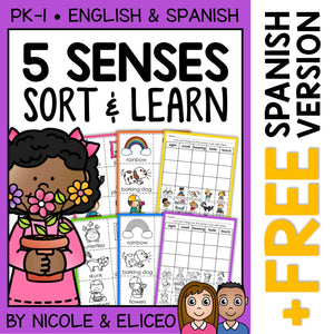 Five Senses Sort Activities