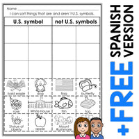 US Symbols Sort Activity