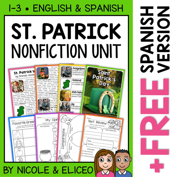 St Patricks Day Activities Nonfiction Unit