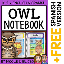 Load image into Gallery viewer, Owl Interactive Notebook Activities