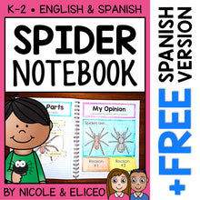 Load image into Gallery viewer, Spider Interactive Notebook Activities