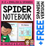 Spider Interactive Notebook Activities