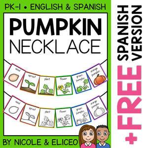 Pumpkin Activity Necklace Craft