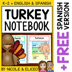 Turkey Interactive Notebook Activities