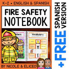 Load image into Gallery viewer, Fire Safety Interactive Notebook Activities