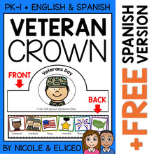 Load image into Gallery viewer, Veterans Day Activity Crown Craft