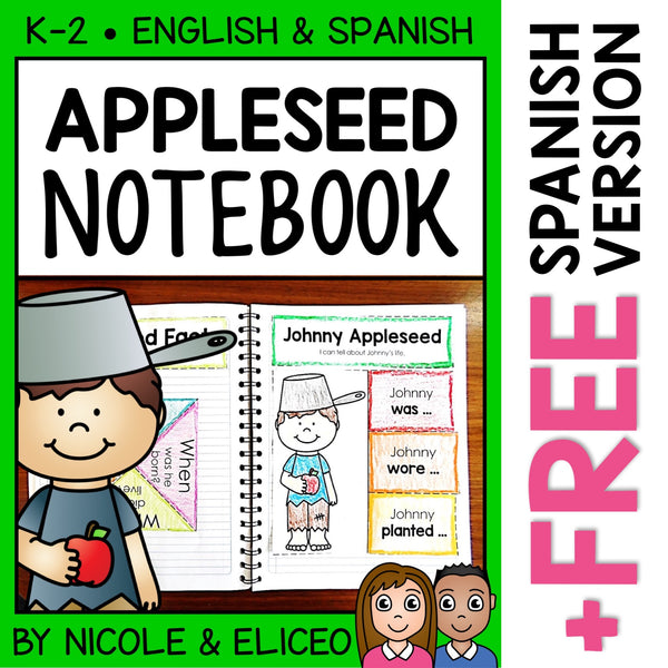 Johnny Appleseed Interactive Notebook Activities