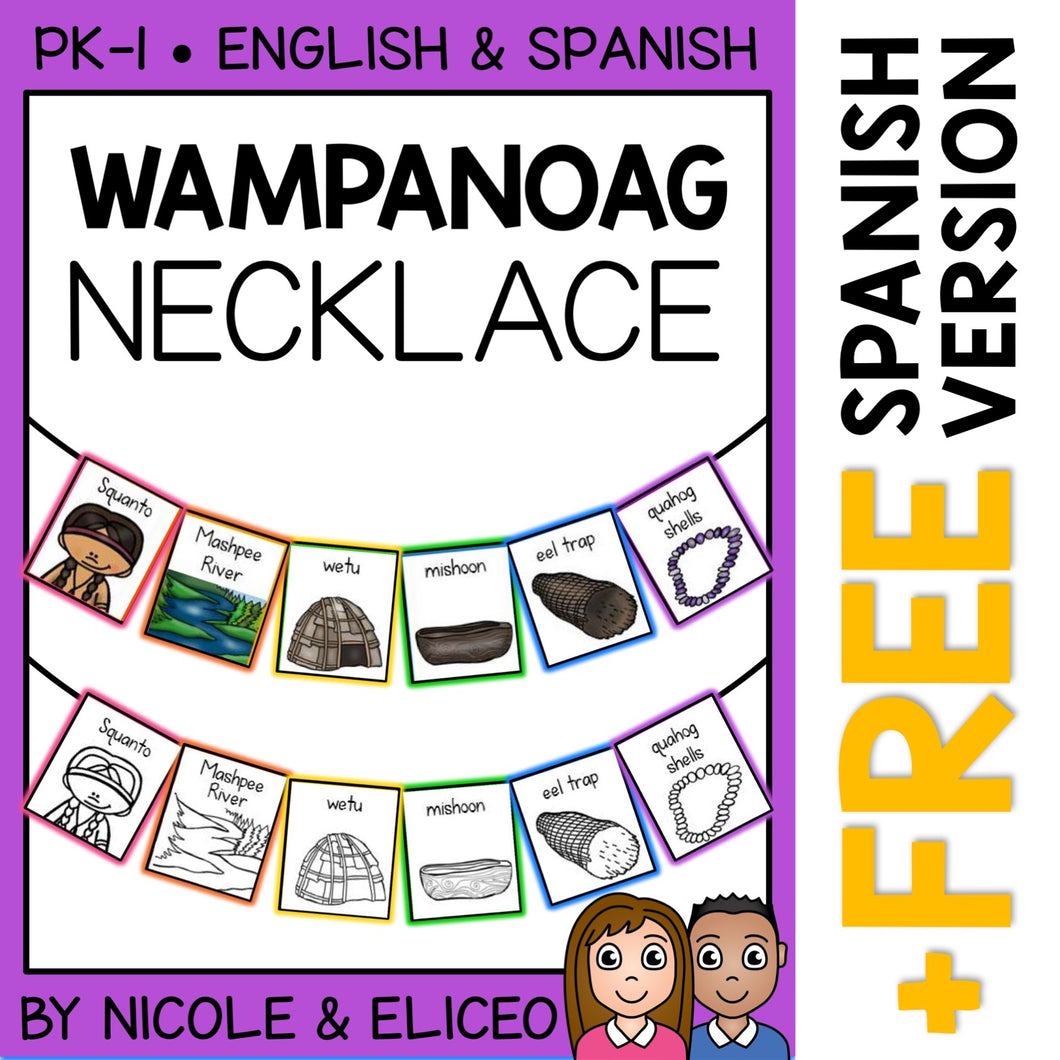Wampanoag Tribe Activity Necklace Craft