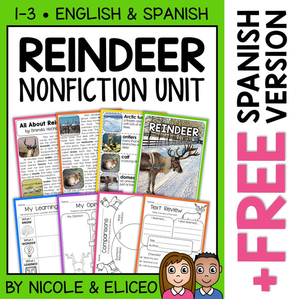 Reindeer Activities Nonfiction Unit