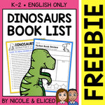 FREE Dinosaur Activities and Book List