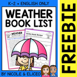 FREE Weather Activities and Book List