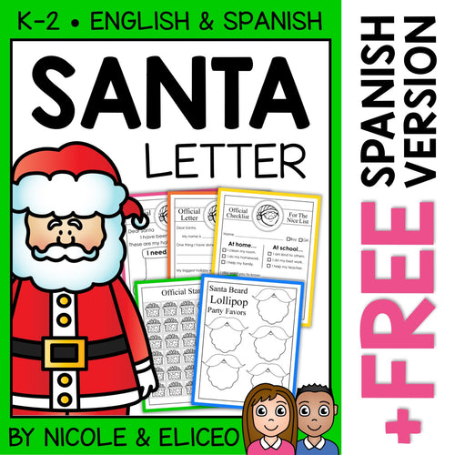 Letter to Santa Claus Christmas Writing