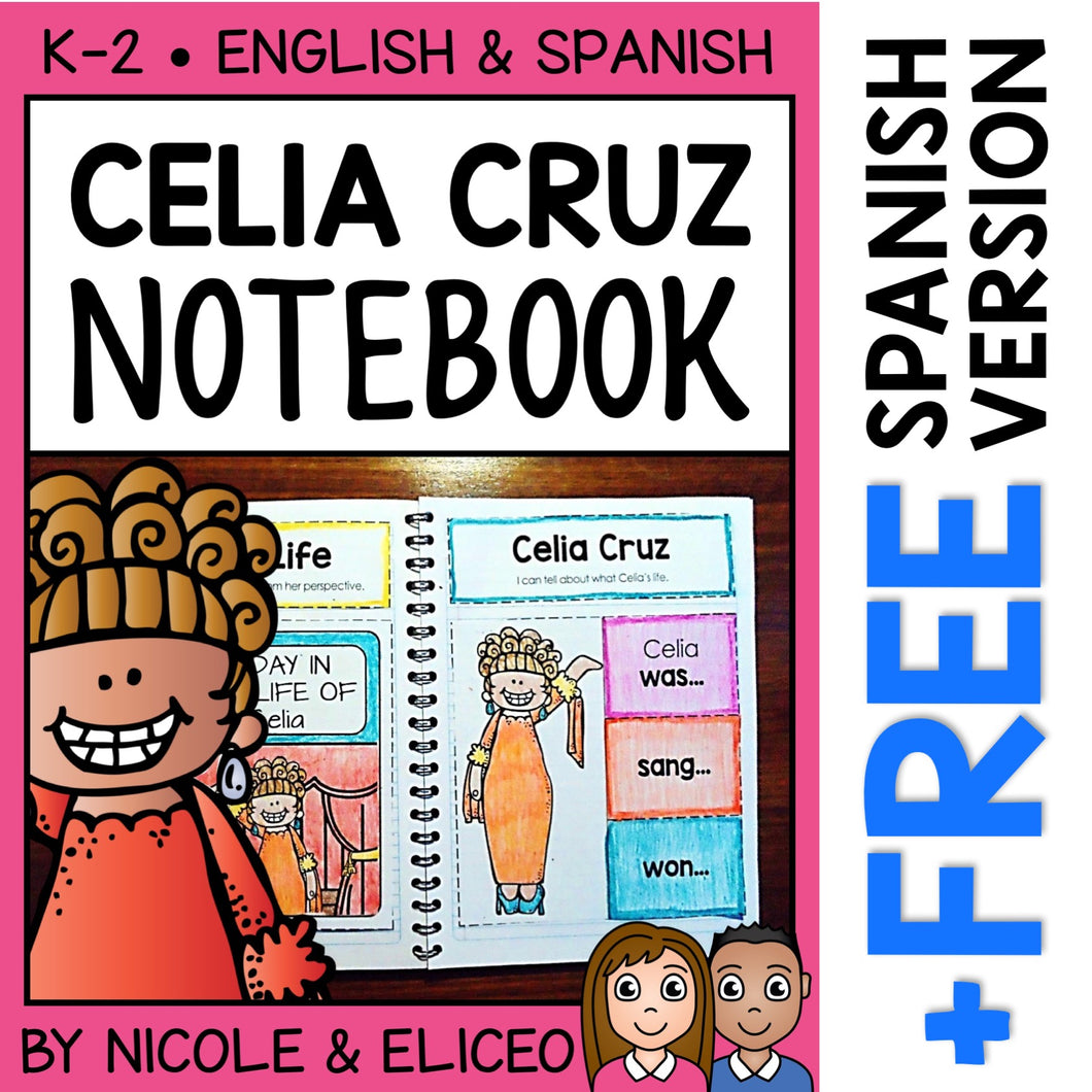 Celia Cruz Interactive Notebook Activities