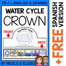 Load image into Gallery viewer, Water Cycle Activity Crown Craft
