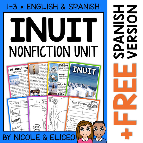 Inuit Activities Nonfiction Unit
