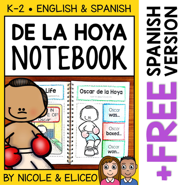 Oscar de la Hoya Interactive Notebook Activities