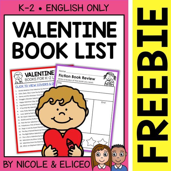 FREE Valentines Day Activities and Book List