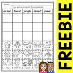 FREE Animal Habitat Sort Activity