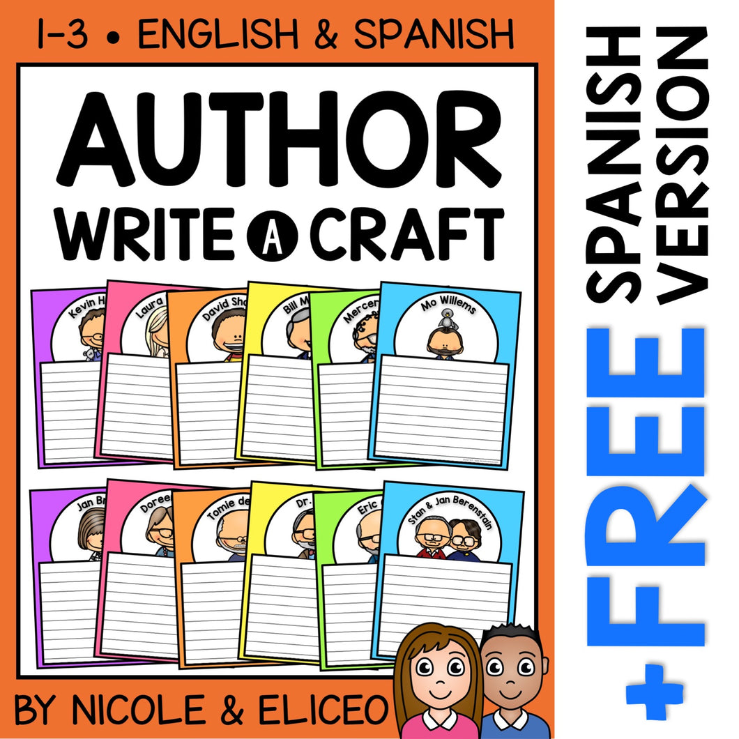 Author Study Writing Activity Crafts
