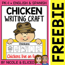 Load image into Gallery viewer, FREE Chicken Life Cycle Writing Craft Activity