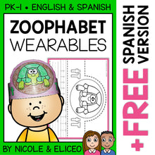 Load image into Gallery viewer, Zoo Alphabet Activity Crowns and Bracelets