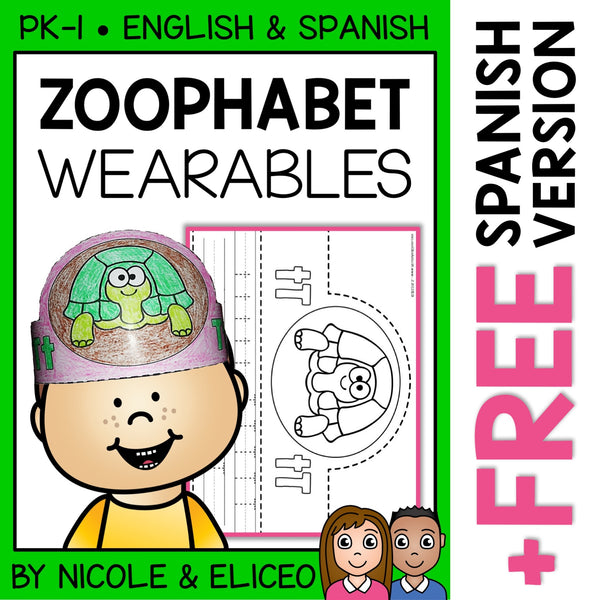 Zoo Alphabet Activity Crowns and Bracelets