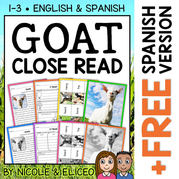 Goat Close Reading Passage Activities