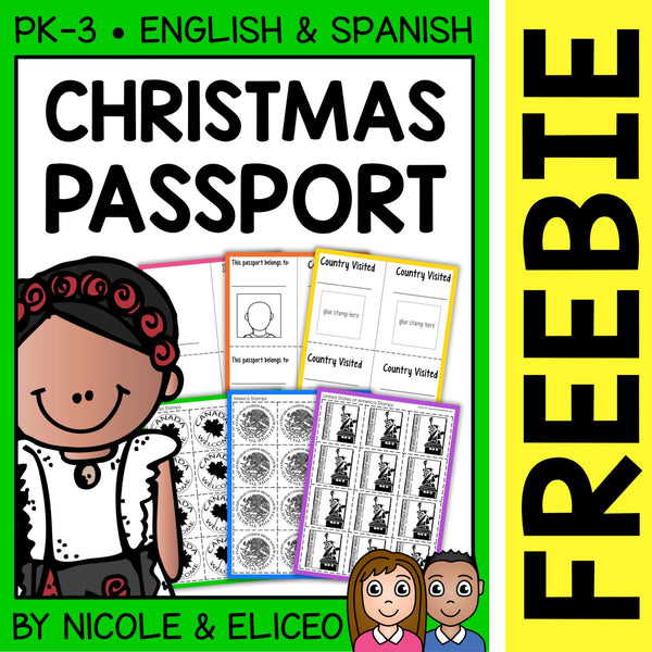 FREE Christmas Around the World Passport Templates