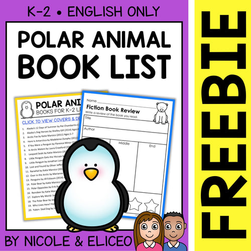 FREE Polar Animal Activities and Book List