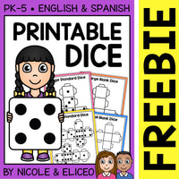 FREE Printable Dice Templates