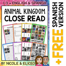 Load image into Gallery viewer, Animal Kingdom Close Reading Passage Activities
