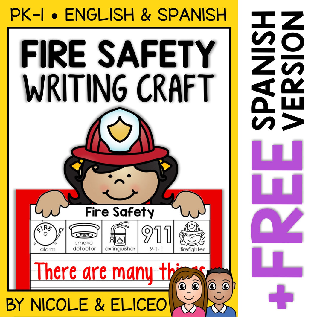 Fire Safety Writing Craft Activity
