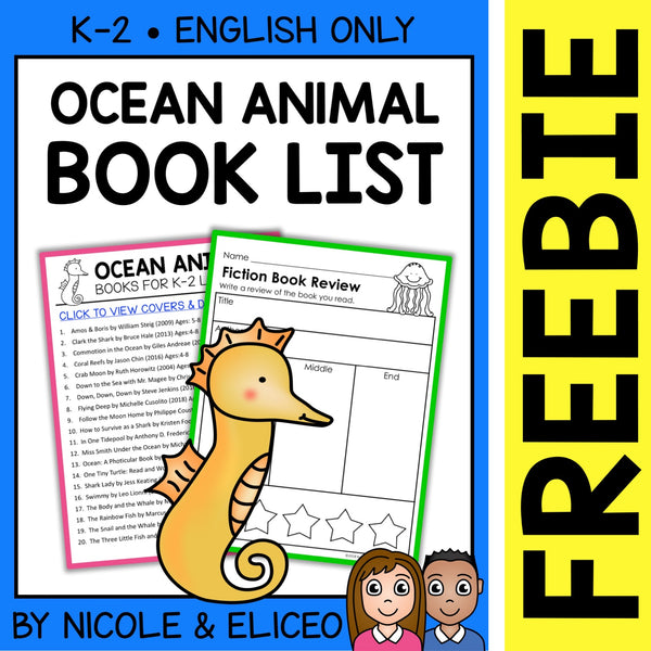 FREE Ocean Animal Activities and Book List