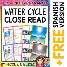 Load image into Gallery viewer, Water Cycle Close Reading Passage Activities