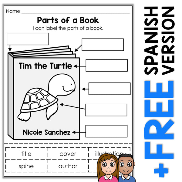 Parts of a Book Activity