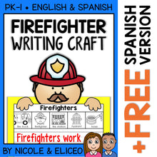 Load image into Gallery viewer, Firefighter Writing Craft Activity