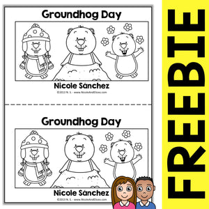 FREE Groundhog Day Book Activity