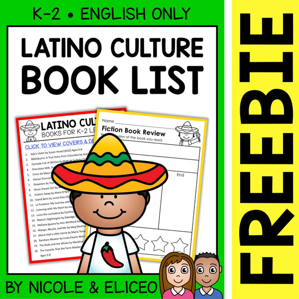 FREE Latino Culture Activities and Book List
