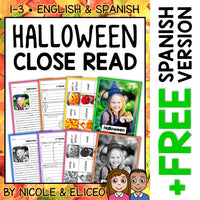 Halloween Close Reading Passage Activities
