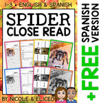 Spider Close Reading Passage Activities